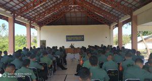 Korem 131 Nani Wartabone Gelar Sosialisasi Netralitas TNI di Kodim 1313 Pohuwato