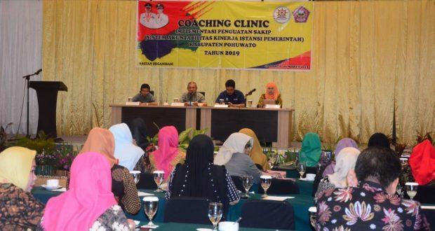 Pemkab Pohuwato Gelar Coaching Clinic Implementasi Sakip 2018
