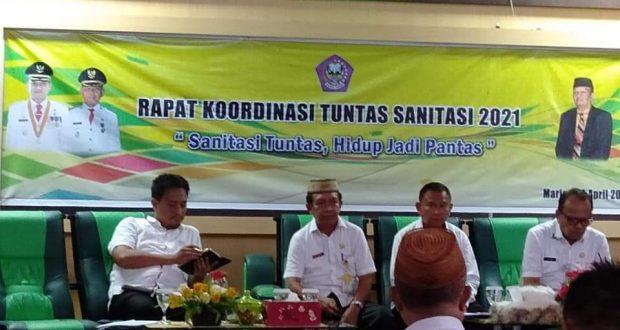 Pemkab Pohuwato Gelar Rakor Tuntas Sanitasi 2021