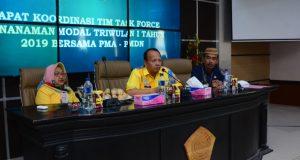 Sekda Djoni Nento Buka Rakor Tim Task Force Penanaman Modal Triwulan l Tahun 2019