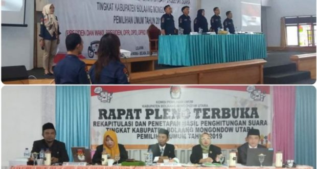 Belum Ditemukan Kecurangan, Pleno KPUD di 3 Kabupaten Bolmong Raya Berjalan Aman dan Lancar
