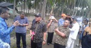 Jajaran Pimpinan DPRD Pohuwato Tinjau Lokasi Banjir di Kecamatan Patilanggio