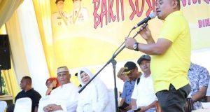 Hadiri Bakti Sosial NKRI Peduli, Ketua DPRD Pohuwato Ucapkan Terima Kasih Kepada Gubernur Gorontalo