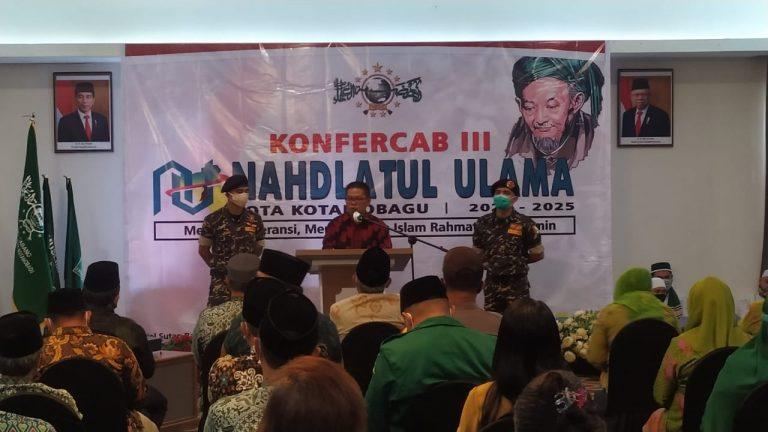 Sambutan Wakil Wali Kota Kotamobagu Nayodo Kurniawan.SH di Konfercab NU
